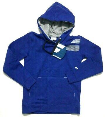 New Babolat Tennis Match Performance Sweatshirt Hoodie Youth Boys size 8-10 Blue