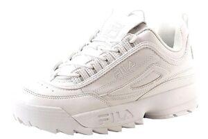 191c431a1e65 Fila Disruptor 2 White Leather FW01655-148 Classic Casual Shoes Men ...