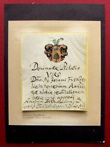 1670 A. siede-medici Kurfürst della Sassonia-autograph + stemma