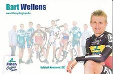 CYCLISME carte cycliste BART WELLENS champion équipe TELENET FIDEA cyclo cross
