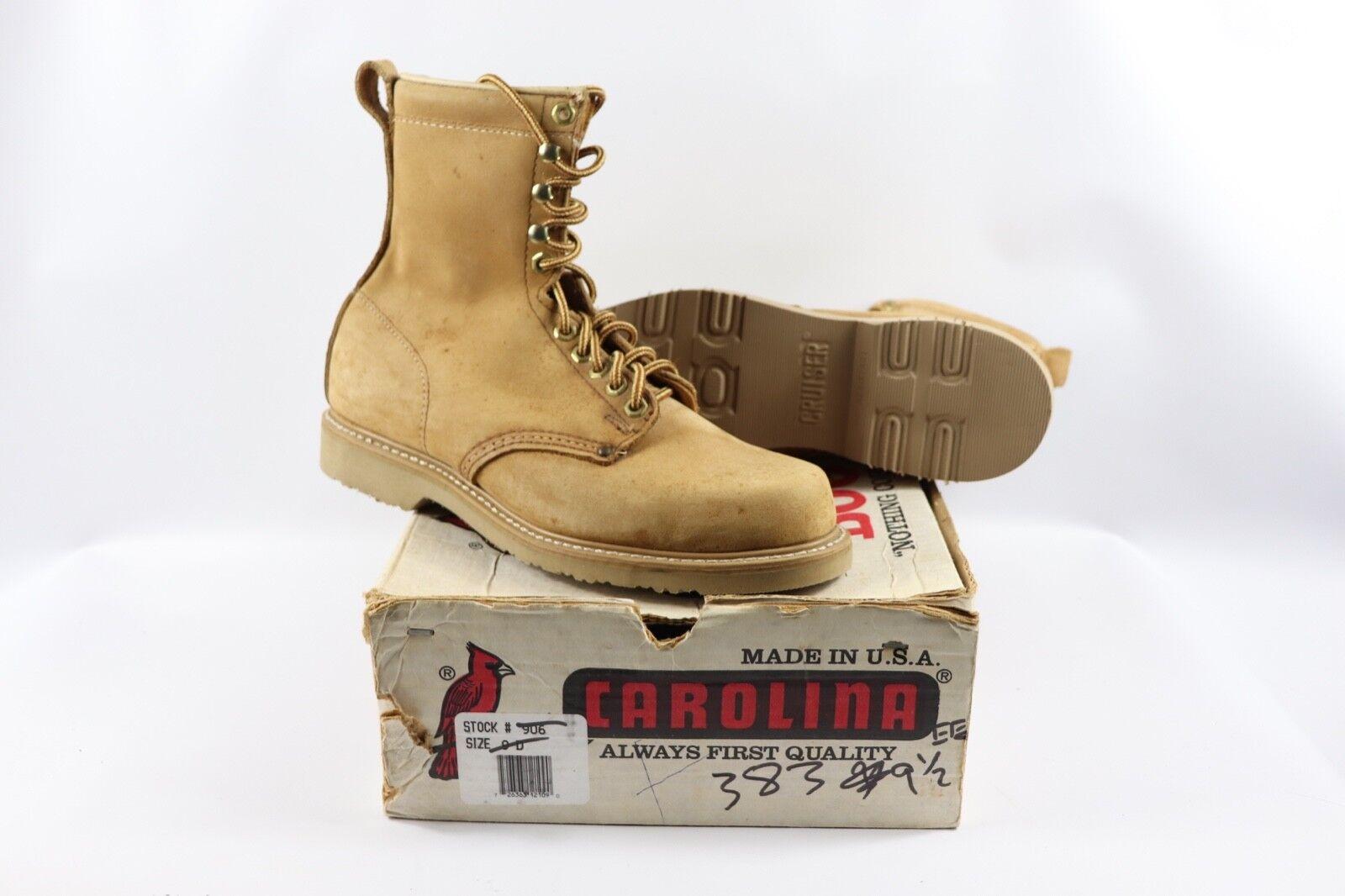 De Colección Nuevo Carolina para Hombre de Cuero Gamuza 9.5 EE seca de pato botas Altas Logger Bronceado