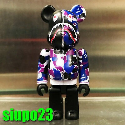 Medicom Be@rbrick 2019 A Bathing Ape Camo Shark Bape 100/% Bearbrick
