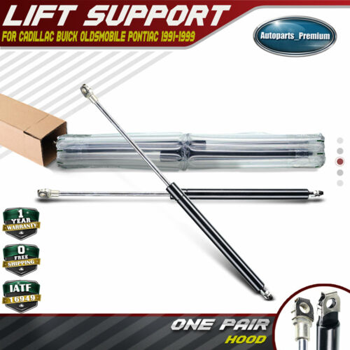 2x Hood Front Lift Supports Struts for Buick Cadillac Oldsmobile 1991-1999 4627