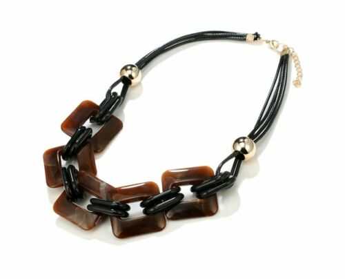 Novadab Quintuplet Rectangular Gemstone Statement Necklace