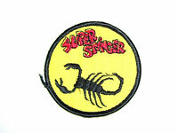Vintage Embroidered Scorpion Super Stinger Snowmobile Patch (nos)