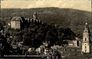 GREIZ-Thueringen-DDR-Postkarte-1964-Blick-Schloss-Kirche-alte-s-w-Ansichtskarte