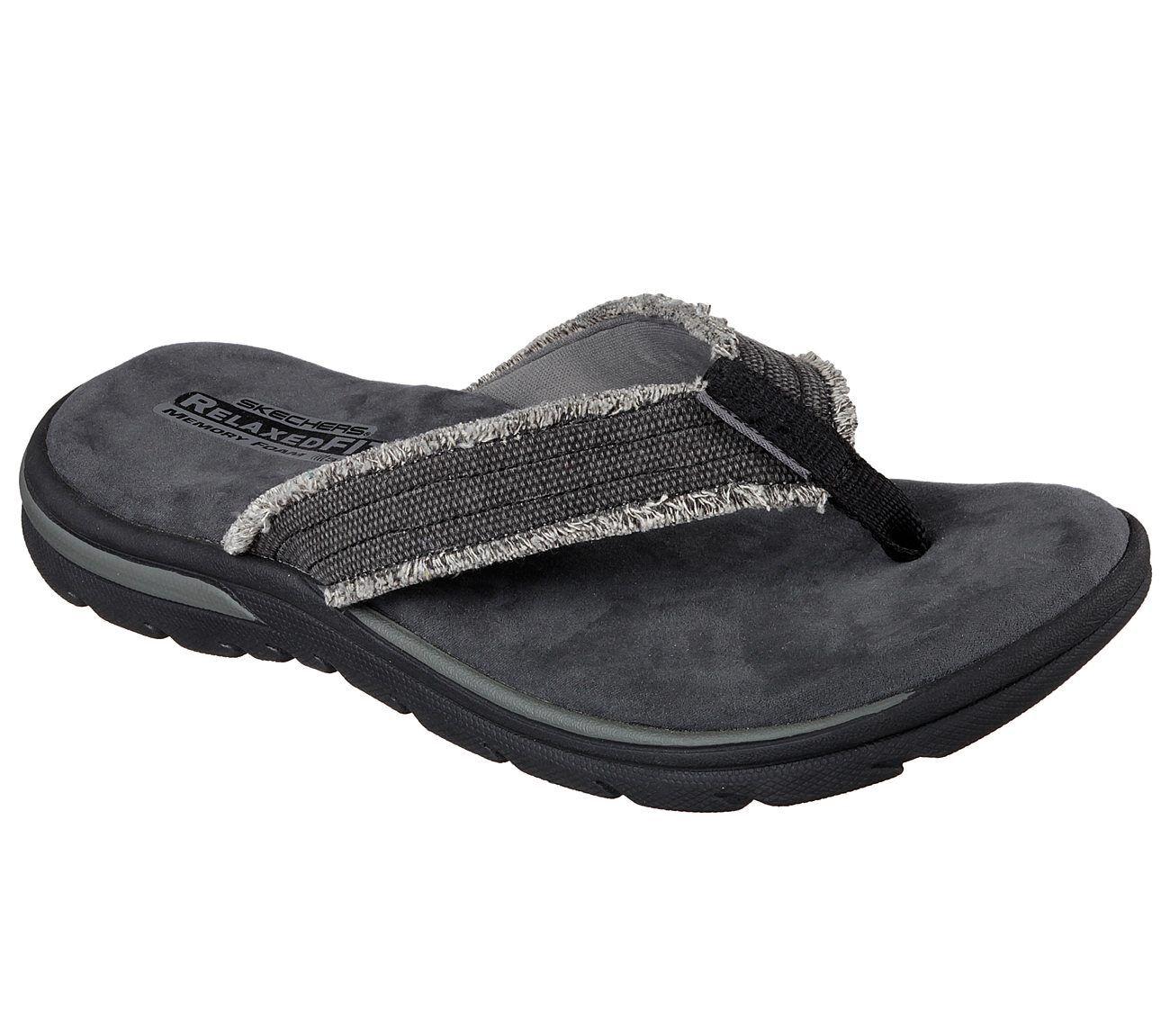 Men's Skechers Relaxed Fit: Supreme - Bosnia Sandals, 64152 /BLK Multiple Sizes