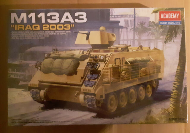 Academy Model Tank Kit, M113A3 IRAQ 2003, 1/35 scale factory shrink wrapped