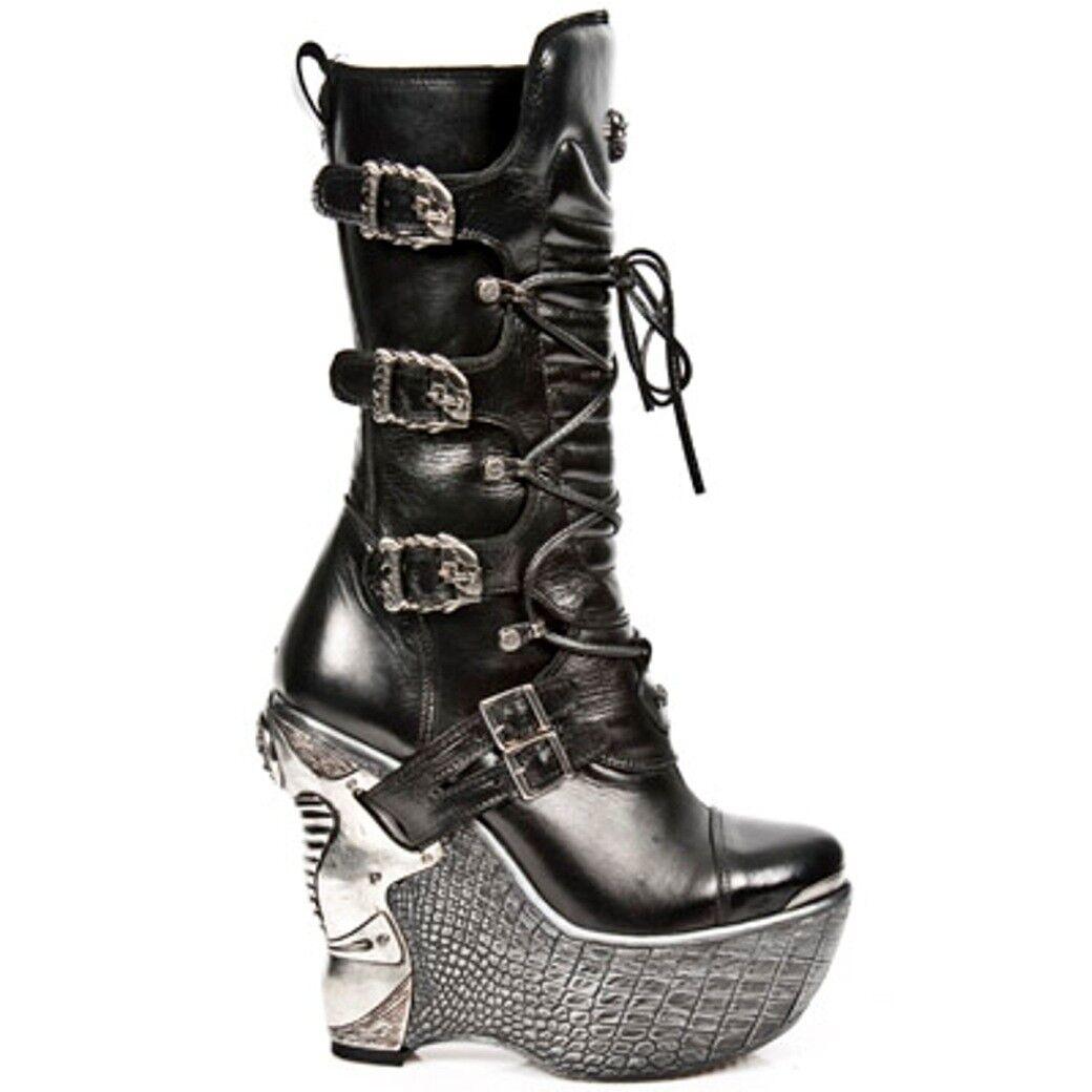 NEWROCK NR NR NR m.pz003 s4 noir bottes-New Rock Bottes-Femmes a5aa71