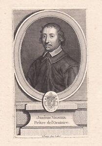 Portrait-XVIIIe-Jerome-Vignier-Hieronymus-Vignerius-Pretre-L-039-Oratoire-De-Jesus