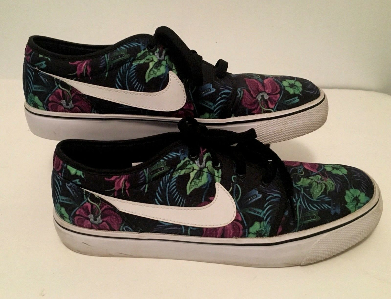 NIKE Mens Sneakers Board shoes Size 9 Smoky Lotus Low Tropical Floral 631697011