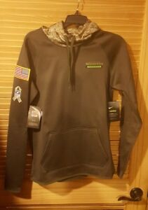 best loved 76c16 5fe59 Details about NWT Nike Therma Salute to Service Seattle Seahawks Womens  Sideline Hoodie Size S