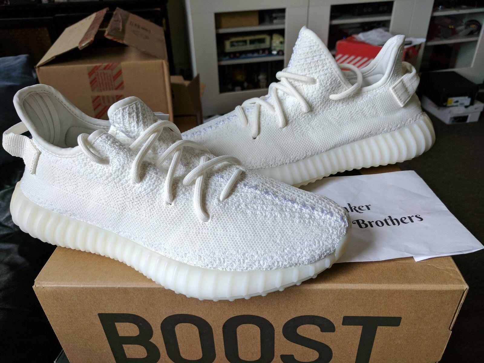 Adidas Yeezy Boost 350 V2 Cream Triple White Core SPLY Kanye West CP9366 Zebra