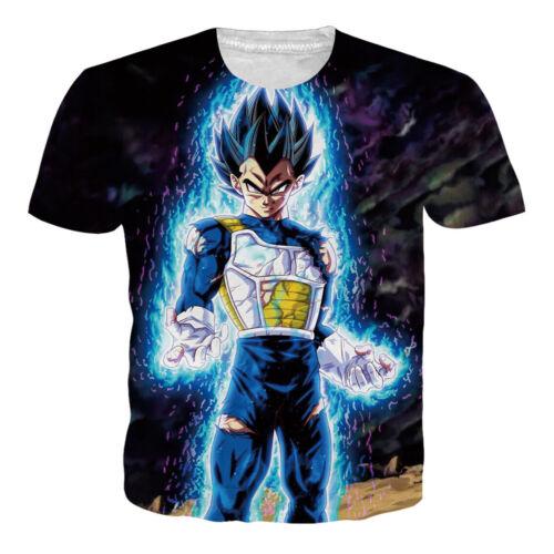 Dragon Ball T-Shirt Mens//Womens Super Saiyan Z DBZ Goku 3D Print Casual Tee Tops