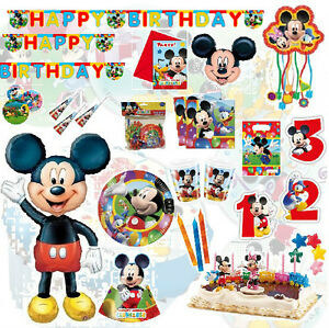 micky maus party geburtstag kindergeburtstag dekoration mickey mouse ebay. Black Bedroom Furniture Sets. Home Design Ideas
