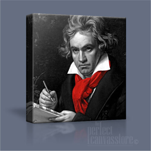 LUDWIG VAN BEETHOVEN GREAT CLASSIC COMPOSER ICONIC CANVAS ART PRINT Art Williams