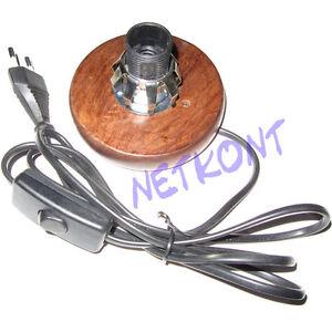 Lampensockel-aus-Holz-Sockel-Fassung-E14-Durchmesser-12cm-oder-14cm-NEU