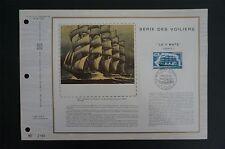 FRANCE CEF 1973 SCHIFFE SHIP SEEGLER FRANCE II ETB ERSTTAGSBLATT z1446