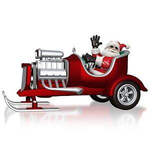 Little Saint Nick 2015 Hallmark Ornament Santa Claus Hot Rod Muscle