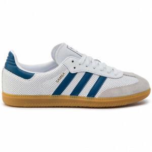 Détails sur Chaussures Adidas Originals Homme Femme Samba Og BD7545 Blanc Bleu Neuf Original