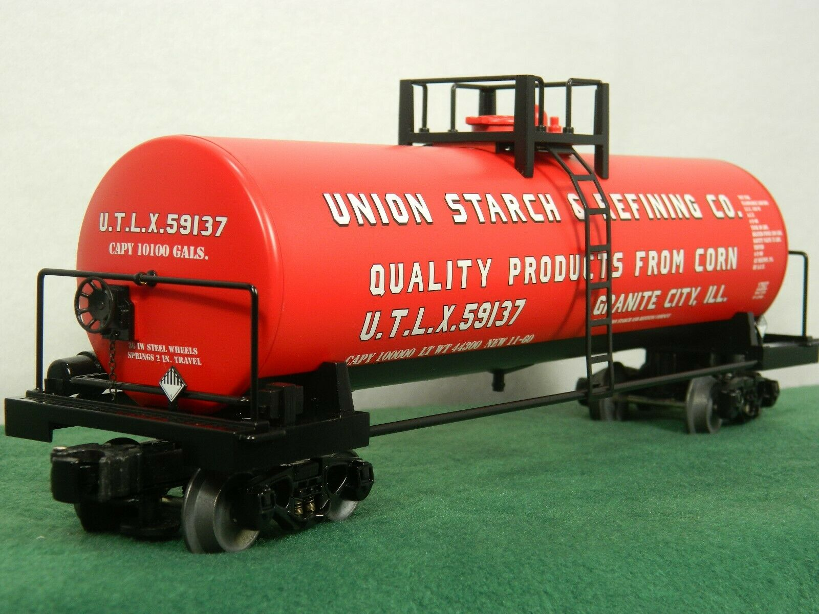 Lionel Escala  6-17927 Unión almidón Unibody Tanque coche con Die Cast camiones y plataformas