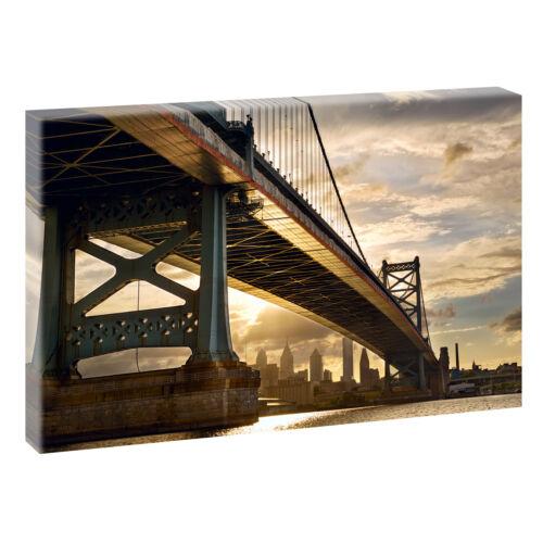 Bild auf Leinwand Keilrahmen Poster Wandbild 120 cm*80 cm 546 Philadelphia USA