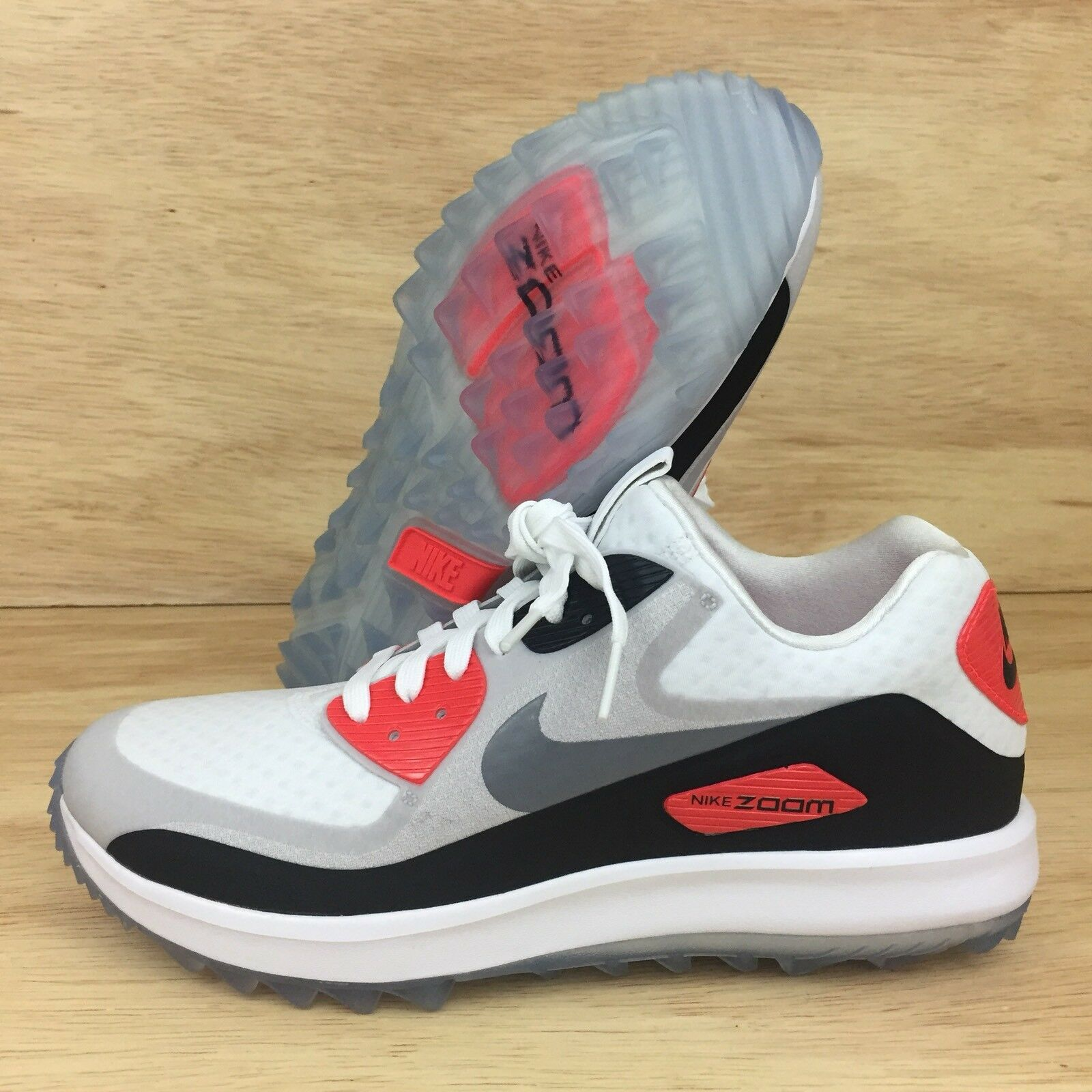 NIKE AIR ZOOM 90 IT GOLF WOMENS INFRARED 844648 100 RORY MCILROY SZ 10.5
