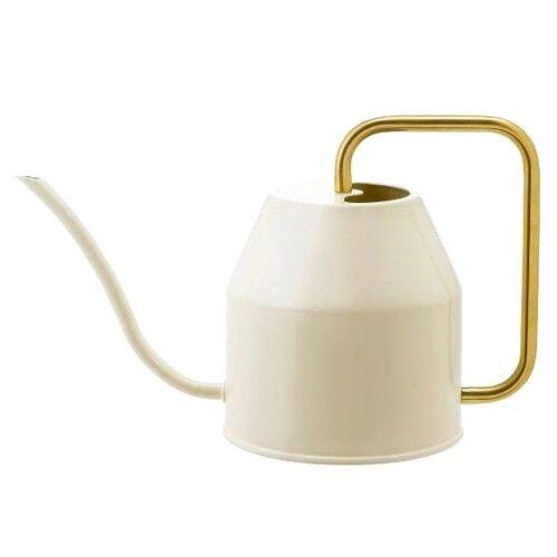 0,9L goldfarben Bewässerungsdose IKEA VATTENKRASSE Gießkanne in elfenbeinweiß