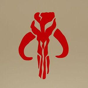 """Boba Fett BANTHA Vinyl Decal Sticker Skull 3/"""" WHITE"""