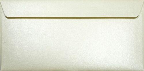 100 Perlmutt-Creme DIN Lang Umschläge ohne Fenster für Einladungen Majestic