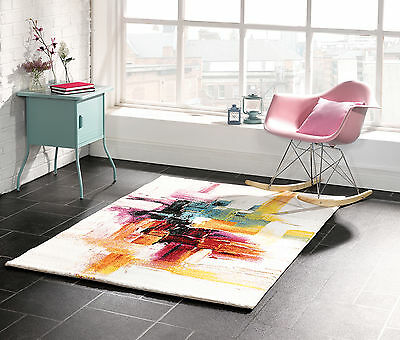 SMALL- LARGE ARTISTIC LIVELY COLOURFUL HARDWEARING FUNKY NON-SHED SOFT RUG
