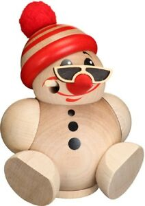Handcrafted-Erzgebirge-Smoker-Incense-Burner-ball-figure-Cool-Man-with-snowboard