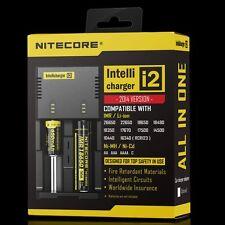 Nitecore I2 Cargador Universal Cargador De Batería 26650 18650 18350 AA (UK/EU enchufe)