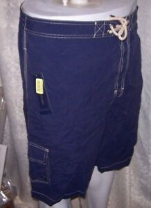 88eb3bd0670 New Polo Ralph Lauren navy blue yellow logo swimsuit swim trunks 1XB ...