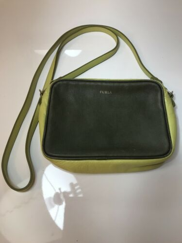 Leather Cross Lime owned Woman Shoulder Green Small Pre Furla Body Handtas WE29IHYD