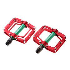"""9//16/"""" Platform Alluminum Pedals Toe Clip//Strap Compatible Bianchi Green Set"""
