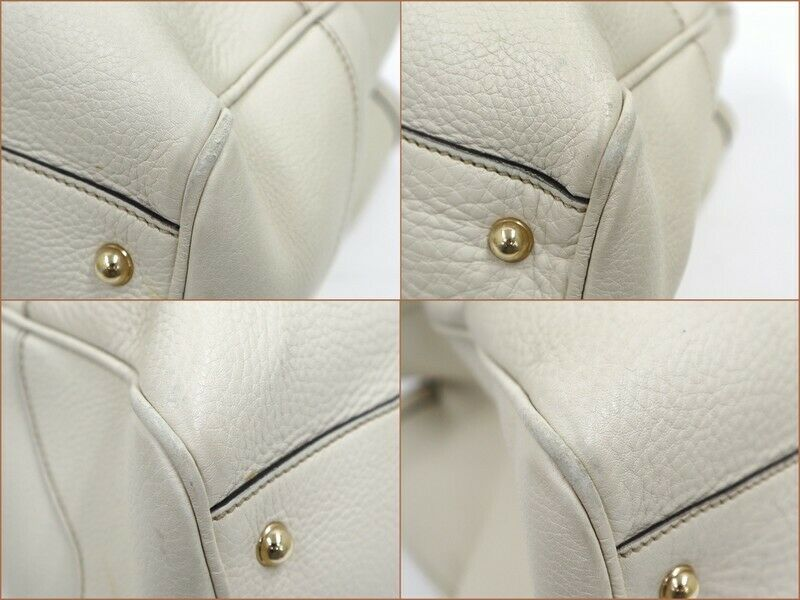 Used Gucci Diana Bamboo Tote Bag Leather White W3… - image 8