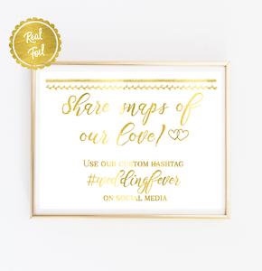 custom hashtag //// wedding hashtag //// social media sign //// wedding signs