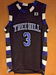 a7a21450 Details about One Tree Hill Lucas Scott #3 Ravens Black Basketball Jersey  S, M, L, XL, 2XL