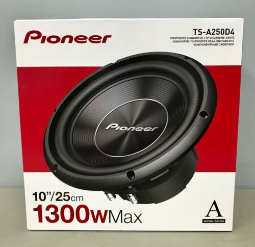 """Pioneer TS-A250D4 10/"""" 1300 Watt Dual Voice Coil 4 Ohm Subwoofer BRAND NEW"""