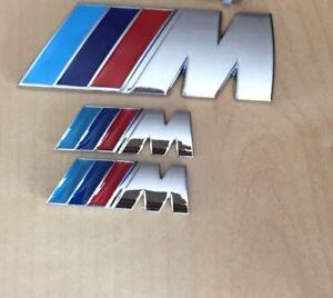 ///M Sport Small Emblem M Power Set (2x Wings +1x Boot Badge) Metal Chrome BMW