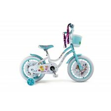 Bikes for Girls 16 Inch Ellie BMX Bicycle Training Basket Blue White Christmas