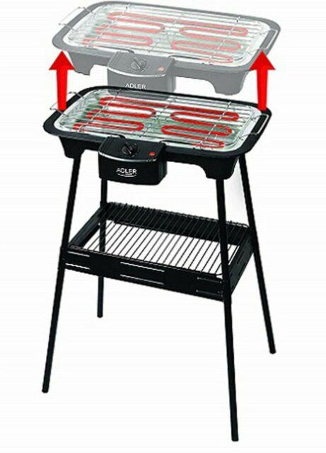 Tavolo Da Giardino Con Barbecue.Vidaxl Barbecue Elettrico Rettangolare Griglia Da Giardino Grill