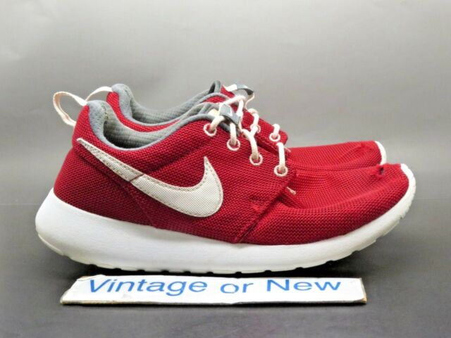 best loved 20642 650c4 Nike Roshe One Gym Red White Dark Grey GS Running Shoes 599728-603 sz 4.5Y