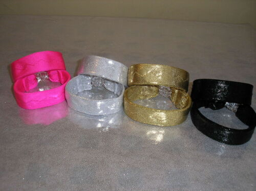 Freestyle disco dance costumes plain//stoned wrist bands 1.2cm or 1.9cm wide
