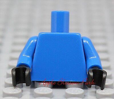 NEW Lego Girl Boy Minifig Plain BLUE TORSO Minifigure Blank Upper w//BLACK Hands