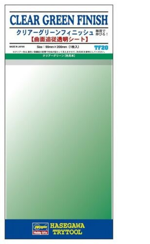 90mm x 200mm, 1pc TF-20 Adhesive Detail /& Marking Film #Clear Green Finish