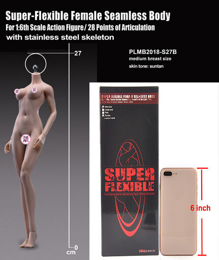 1 6 Tbleague sin costuras PLMB 2018-figura de S27B con conjuntos de cuerpo Modelo Femenino