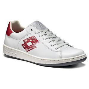 Lotto 1973 VI PRT - Herren Freizeitschuhe Sneaker Turnschuhe - T0011 weiß/rot