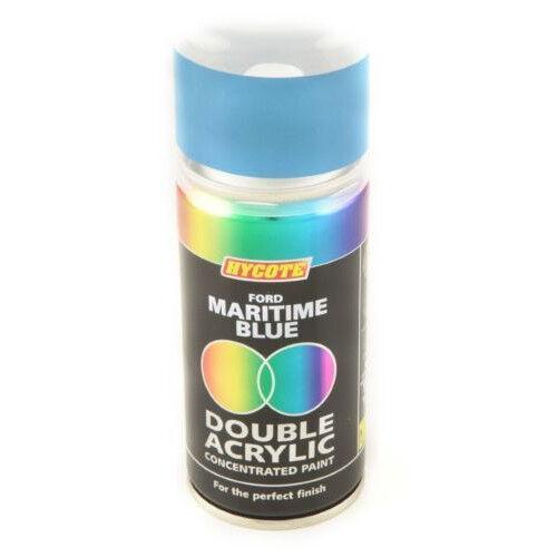 Hycote Ford Maritime Blue 150ml Double Acrylic Spray Paint Aerosol - XDFD216